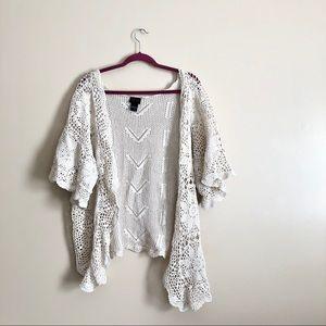 Torrid Crotchet Knit Kimono Cardigan